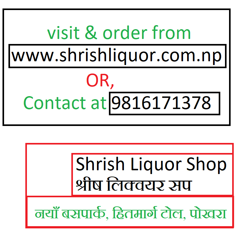 To buy all types of liquors