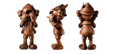 KAWS Pinocchio Wood Figure by Medicom Toy x Disney x Karimoku