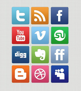 Clean Free Social Media Icon Set