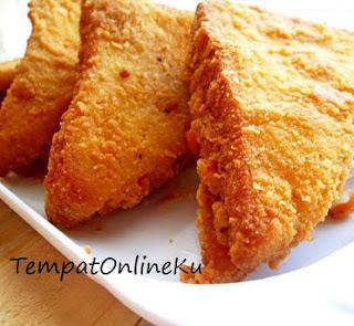 roti tawar goreng isi daging ayam