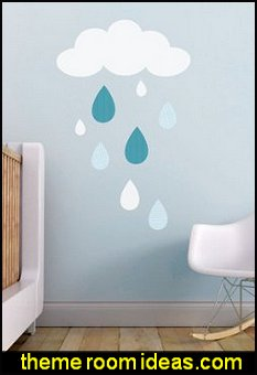 Rain Drops Fabric Decal   weather themed bedroom ideas - rain decorating ideas for weather themed bedrooms - rain theme bedroom wall decorations - Rain Theme  -  Rainbow Theme   -  Sun Theme  -  Snow Theme  -  Ice Theme - Weather themed Nursery decor -  seasonal decorating ideas - ideas for rain themed bedrooms - raindrop themed bedrooms -  springtime shower - rain cloud wall decals - Raindrop garlands - Paper raindrops