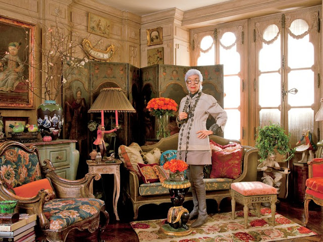 Iris Barrel Apfel—fashion muse, decorator, and cofounder of Old World Weavers—