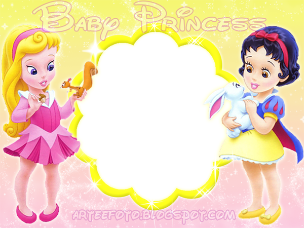 disney baby princess  free invitations  cards or photo frames