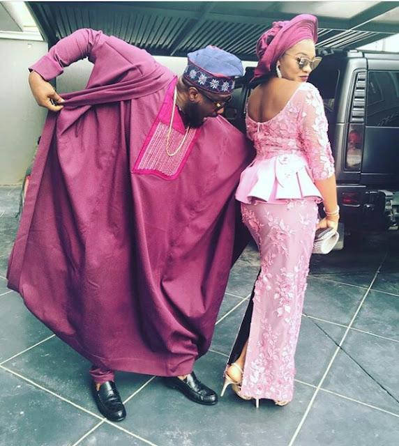 Jude Okoye comically checks out his wife Ifeoma