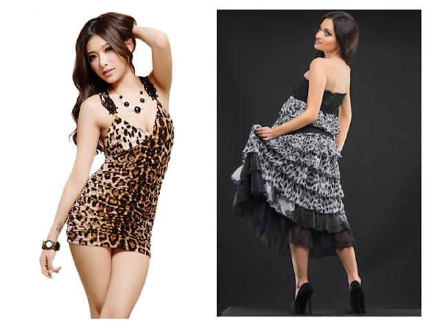 Платье в обтяжку и платье с рюшами с леопардовым принтом
