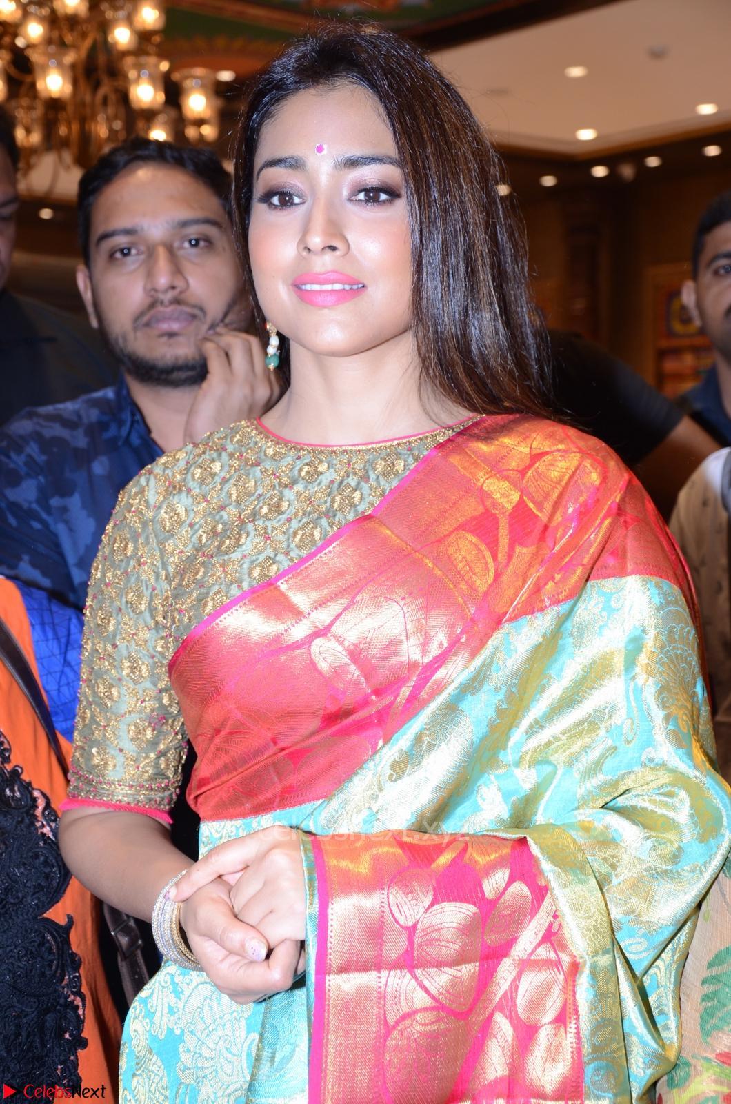 Shriya Saran in Silk Saree at VRK Silk Showroom Launch 13th May 2017