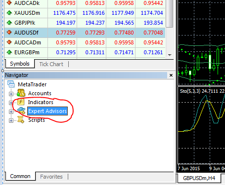 How to link forex robot in mt4
