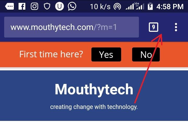 Change color of address bar on mobile browser