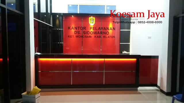 desain interior kantor front office kelurahan di sukoharjo