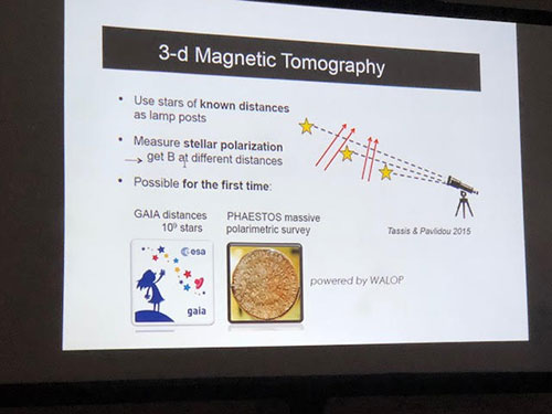 Knowing cosmic magnetic field is key to trajectory backtracking of cosmic rays (Source: COSPAR/ Vasiliki Pavlidou)