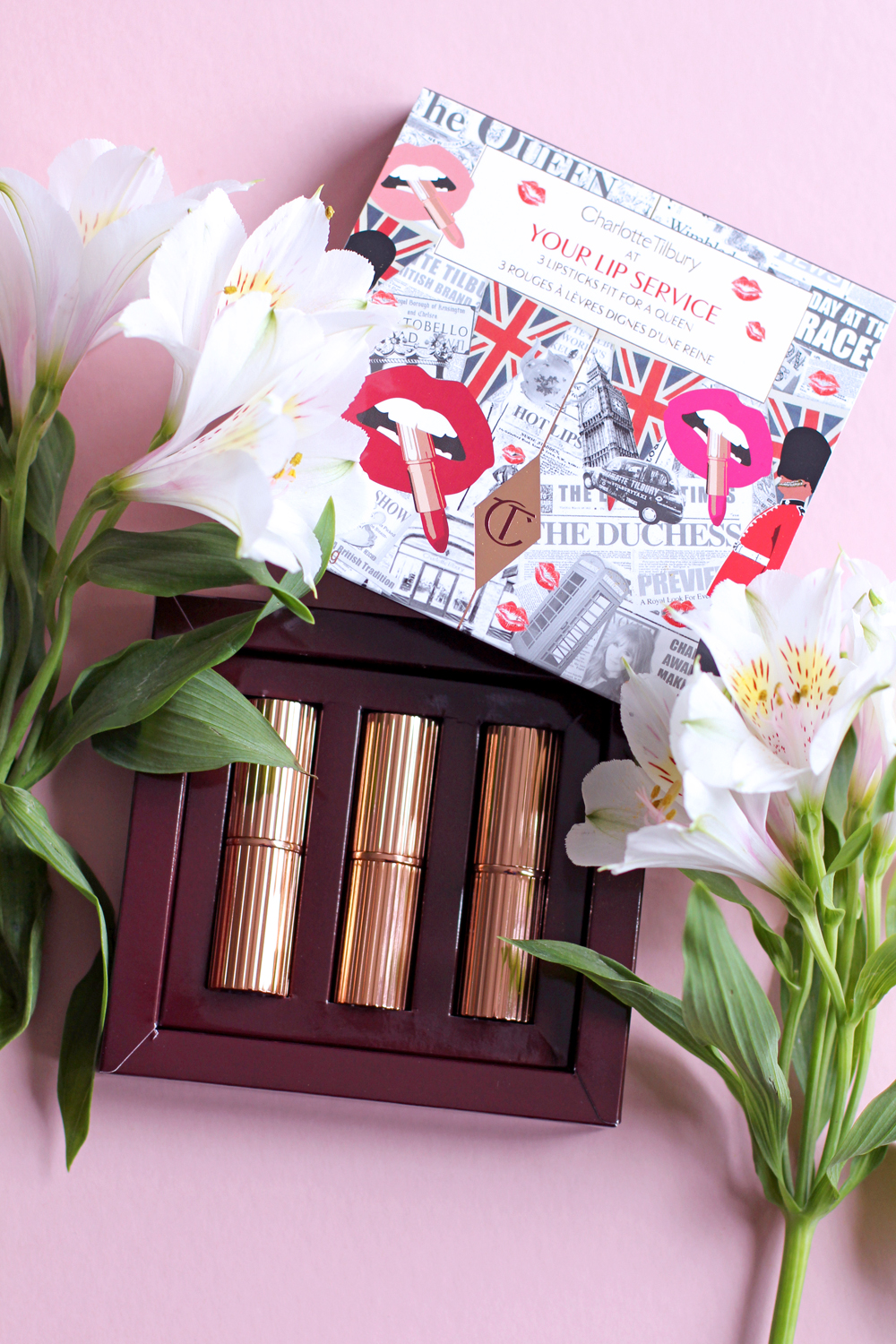 Charlotte Tilbury Your Lip Service royal lipsticks lip kit - UK beauty blog