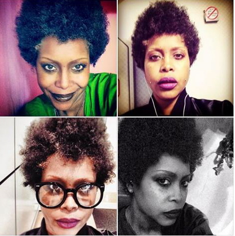 Tremendous Erykah Badu Posts Her Super Natural Afro Pics On Facebook Short Hairstyles Gunalazisus