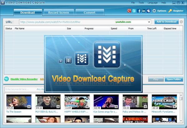 download video download capture full version free