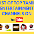List of Top Tamil Entertainment Youtube channels