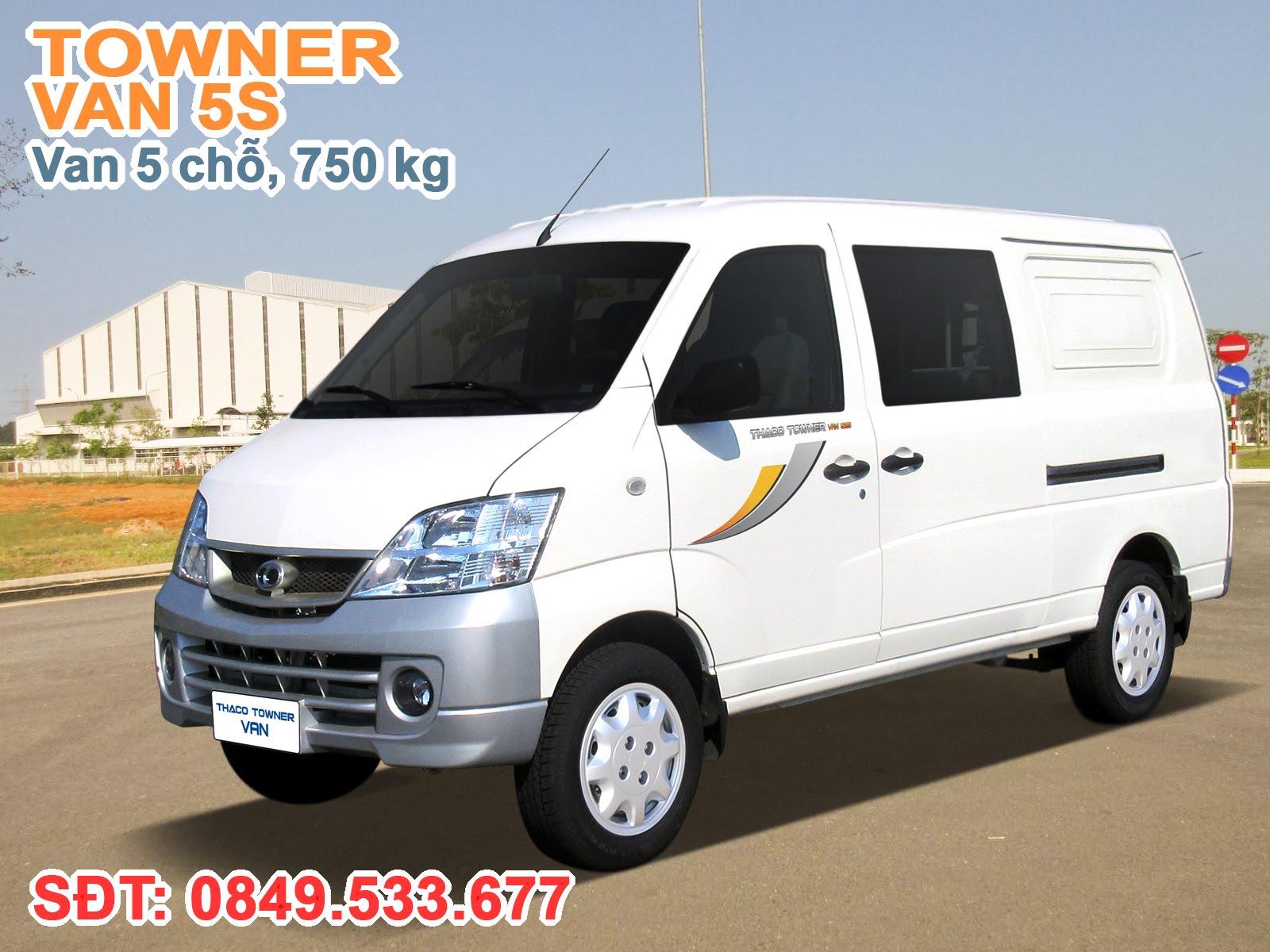 Xe Thaco Towner Van 5S, 5 chỗ ngồi, tải trọng 750 kg