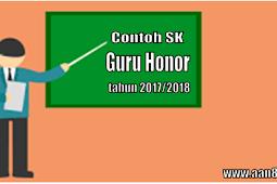 Contoh SK Guru Honorer terbaru 2017/2018
