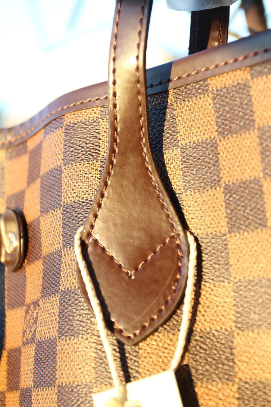 sports shoes f21d5 2ceb1 lifestyle: LOUIS VUITTON NEVERFULL DAMIER EBENE REPLICA MM ...