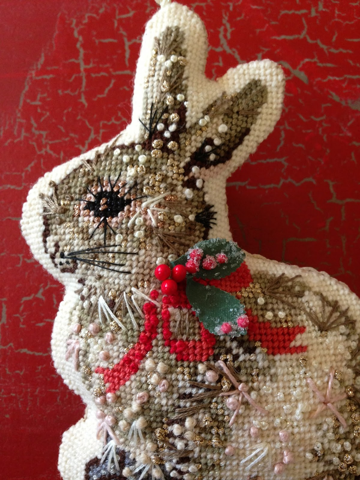 Needlepoint Christmas Stocking Tutorial - Knitionary