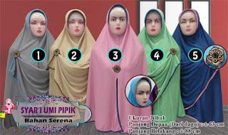 Jilbab syar'i jumbo murah ala umi pipik bahan serena