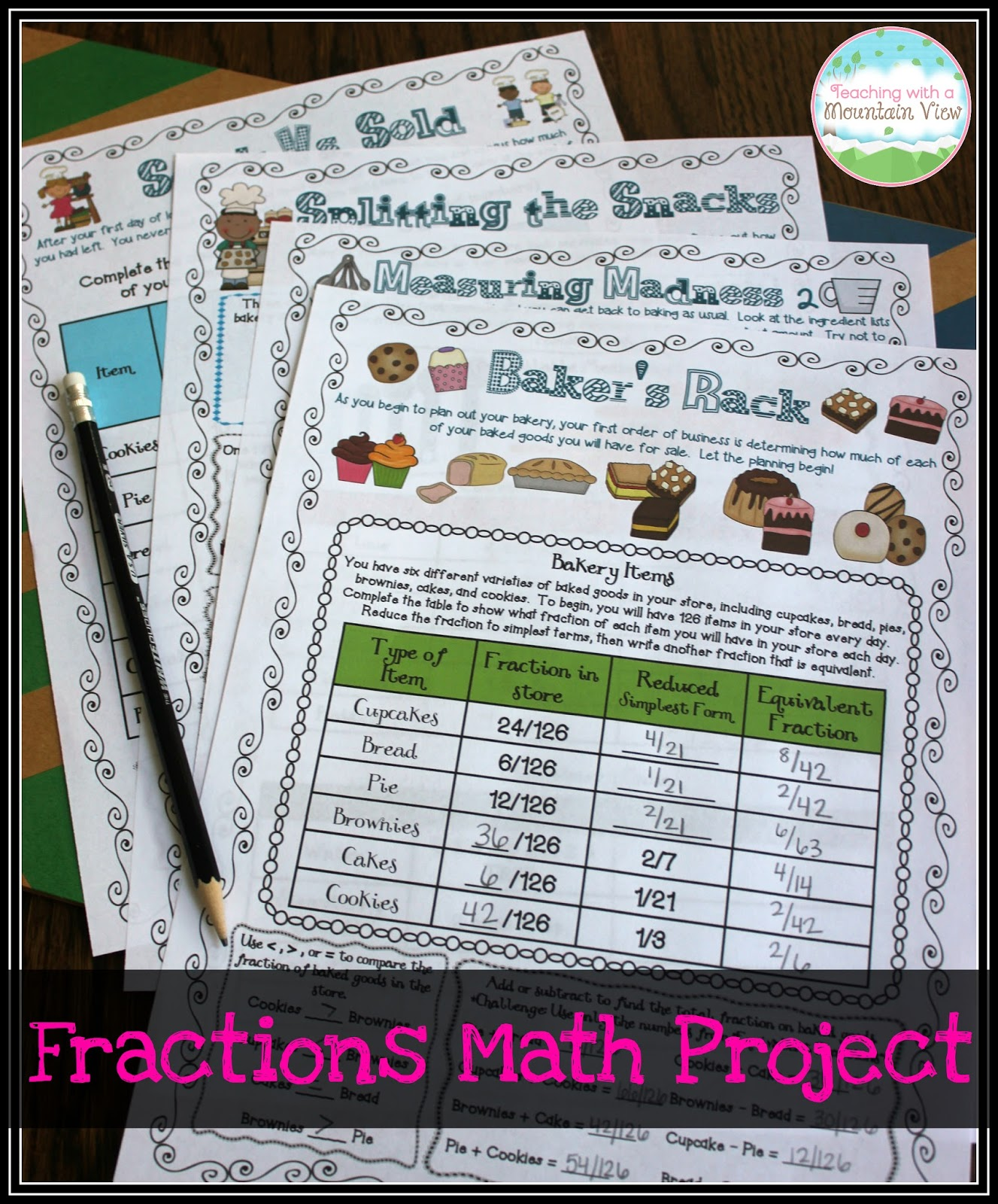 Fraction Project Ideas 6th Grade