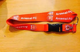 Jual tali lanyard murah Arsenal