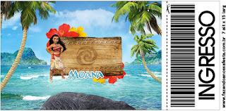Moana Free PrintableTicket  Invitation