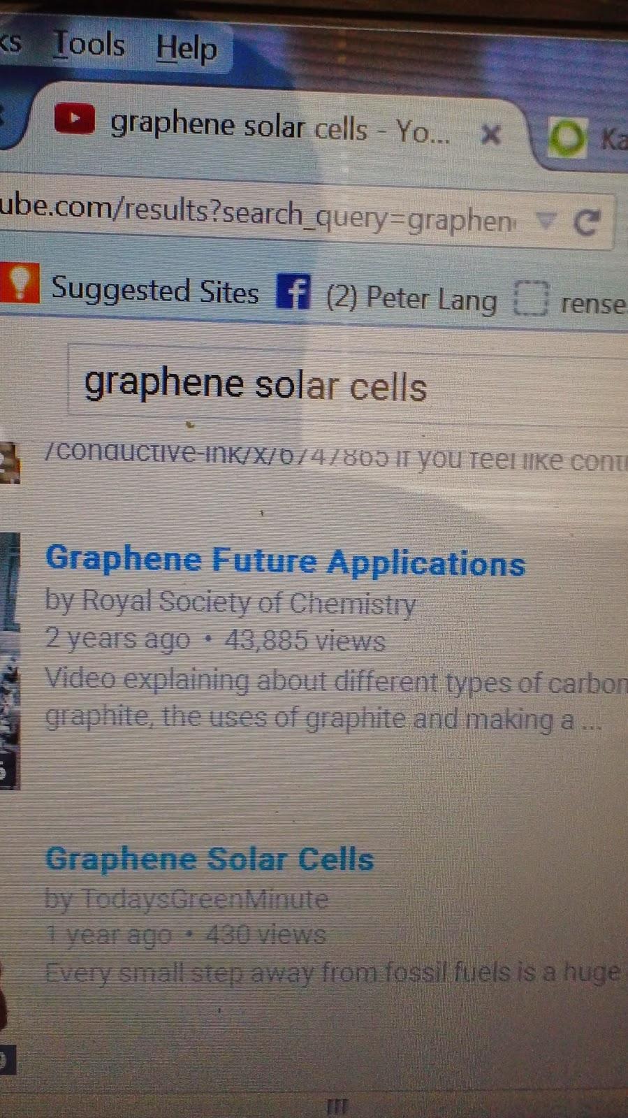 Graphene Solar Cells: graphene for science