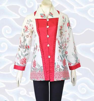 contoh model baju batik wanita pesta