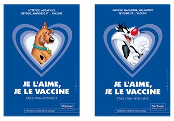 Image de pub : je l'aime, je le vaccine