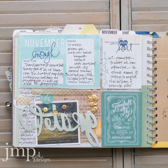 november memory planner ~ @heidiswapp @jamiepate