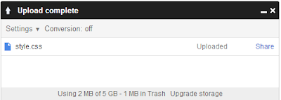 progress upload di google drive