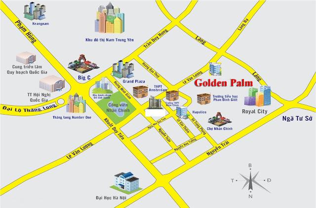 Vị trí chung cư The Golden Palm