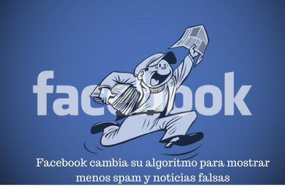 Facebook, redes sociales, noticias, algotirmo, spam