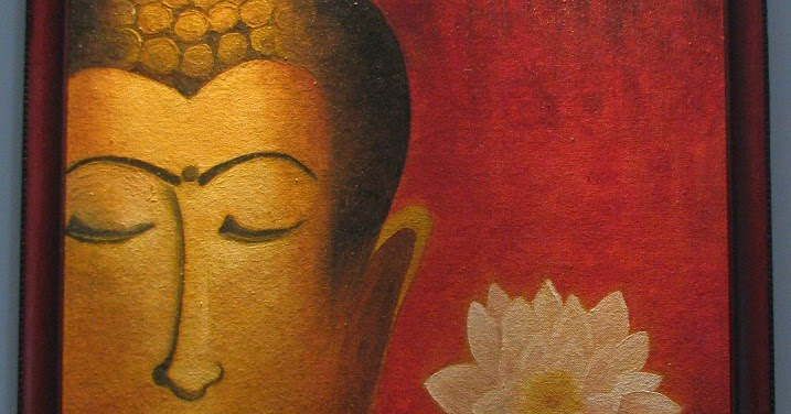 Buddha Painting Oil On Canvas Indian Woodworking Diy