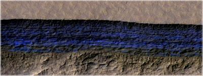 depositos de água em Marte
