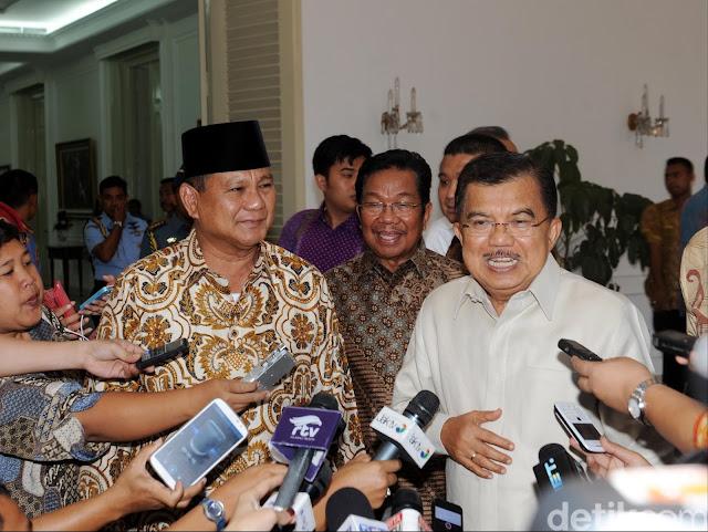 Soal Lahan yang Dikuasai Prabowo di Kaltim, JK: Saya yang Kasih Itu