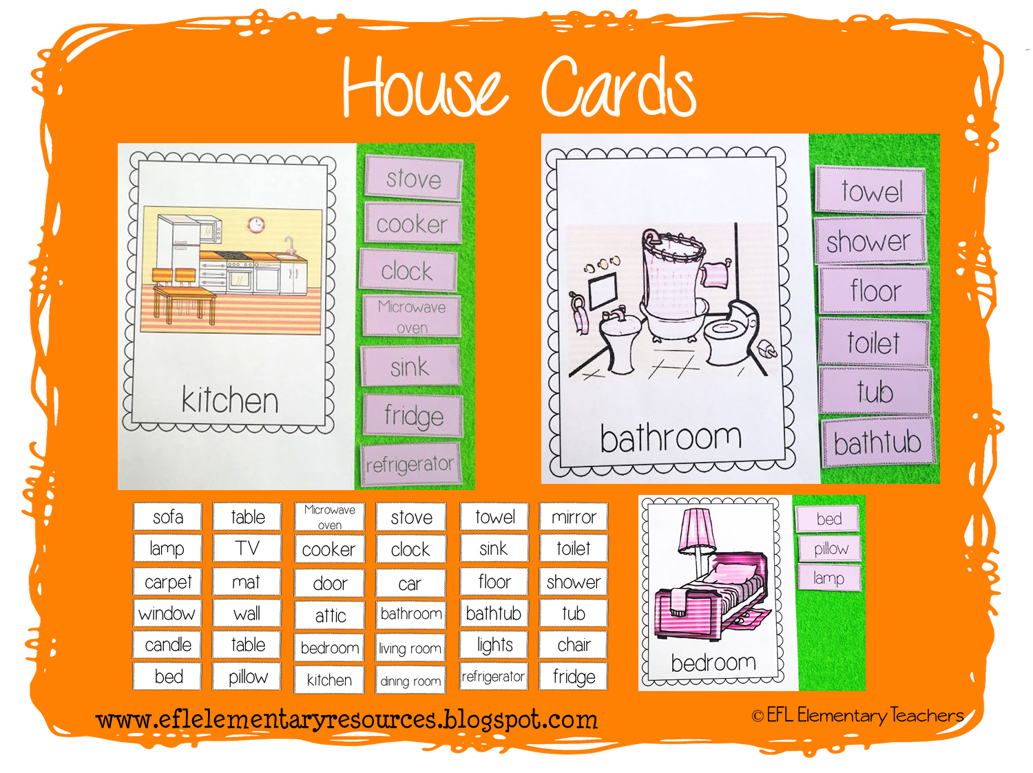 Efl Elementary Teachers House Theme Resources For