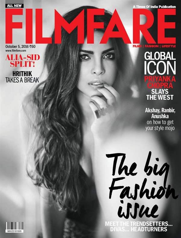 Killer! Priyanka Chopra Features On Filmfare Magazine
