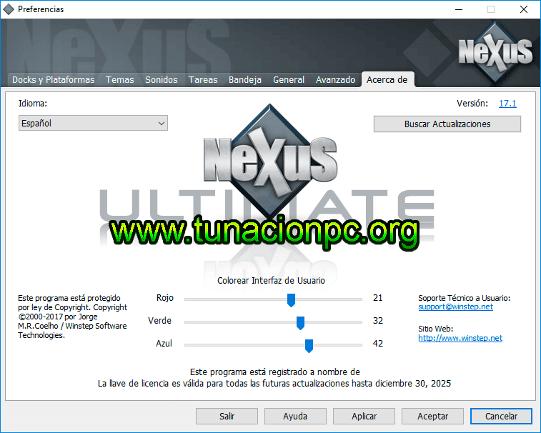 Winstep Nexus Ultimate Agrega Barras a tu Escritorio de Forma Animada Imagen