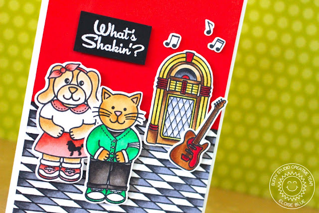 Sunny Studio Stamps: Sock Hop Jukebox & 1950's Diner Inspired Card by Eloise Blue.