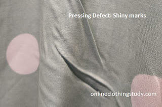 Pressing defect shiny marks
