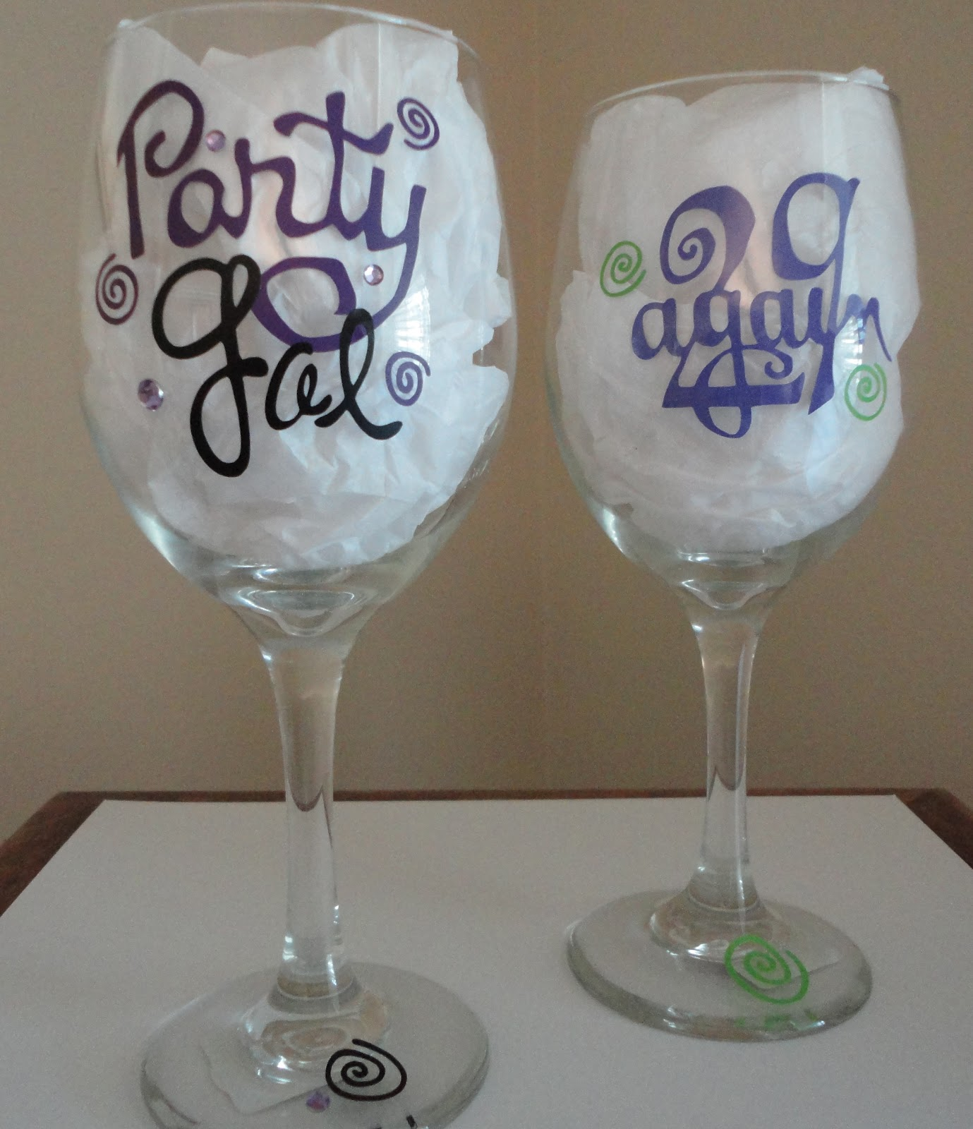 Wine Glass Ideas Tdy Designs Birthday Wine Glasses