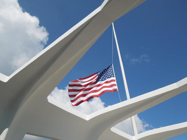 flag over Arizona Memorial