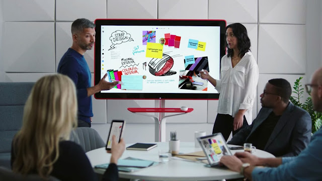 Jamboard produk terbaru google yaitu berupa papan tulis digital yang canggih