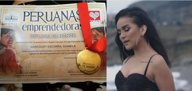 "Congreso de la República condecoró a Daniela Darcourt por ser ""Peruana emprendedora""| FOTO"