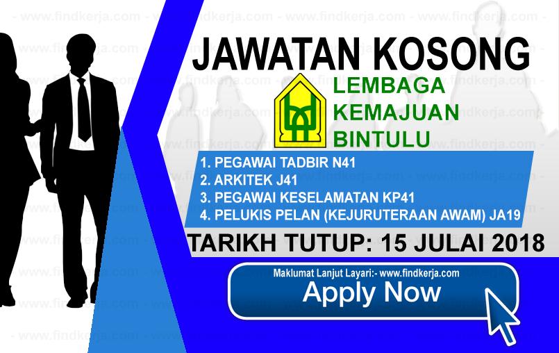 Jawatan Kerja Kosong BDA - Lembaga Kemajuan Bintulu logo www.ohjob.info www.findkerja.com julai 2018