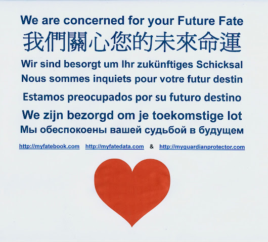 We are concerned for your Future Fate 我們關心您的未來命運