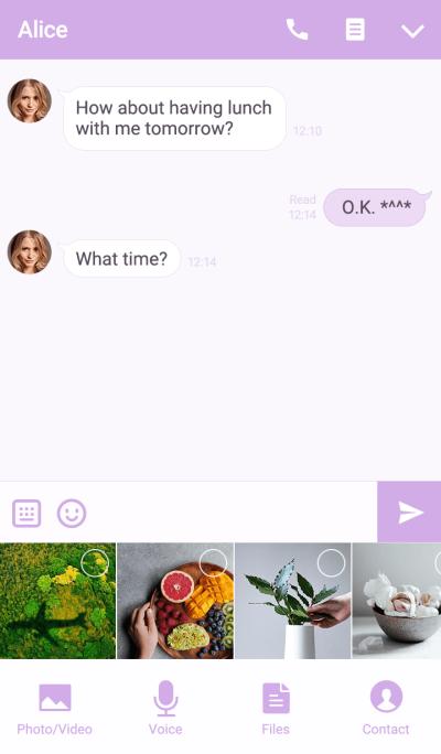 Purple Button theme
