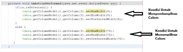 9 - Tutorial Java - Membuat Menu Popup dan Hide/Show Kolom Pada Jtable