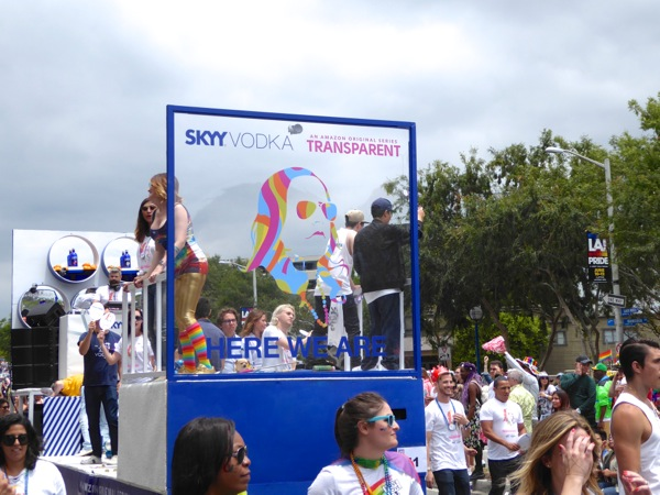 Skyy Vodka Transparent float LA Pride Parade 2016
